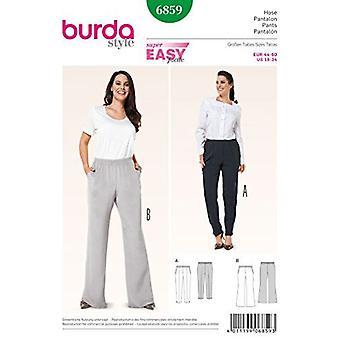 Burda Sewing Pattern 6859 Misses Easy Pants sizes 18-34 E 44-60