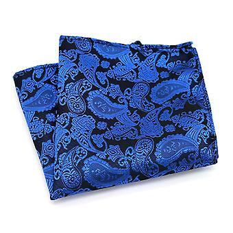 Kirkkaansininen paisley-taskun neliö