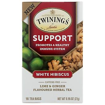 Twining Tea Tea Support Lime Gngr, Case of 6 X 18 Bags