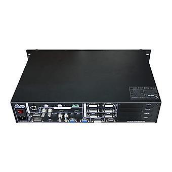 Processador de vídeo splicing de três imagens para exibição led conferência, como mais