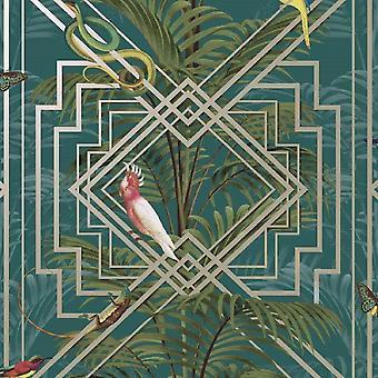 Statement Natural Green Wallpaper