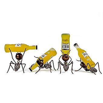 Creativo pequeño estante de vino Ant Beer Cocktail Rack Sala de estar comedor decoración de interiores (Ant D)