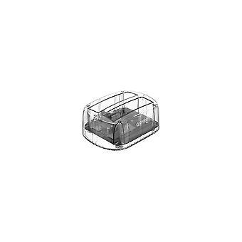 6239U3-C 2,5/3,5 palce Externí offline pevný disk Box 2 Bay Transparentní USB3.0 Pevný disk Dock Pevný