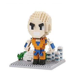 Dragon Ball Kuririn Building Blocks Puzzle Micro 3d Figure Giocattoli educativi in mattoni