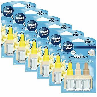 Ambi Pur 3-Volution Refill Vanilla Blossom Air Fragrance Refill, Pack of 6, 20ml