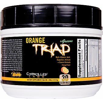 Orange Triad + Greens, Orange - 408 grams