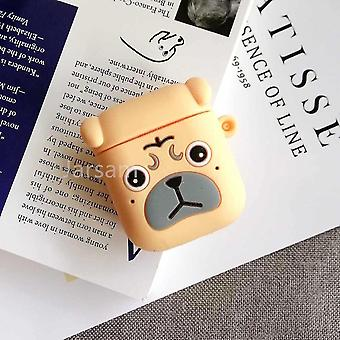 Musical instrument amplifier covers cases cute cartoon 3d silicone earphone case covers for airpods 1 2 sharpeidog