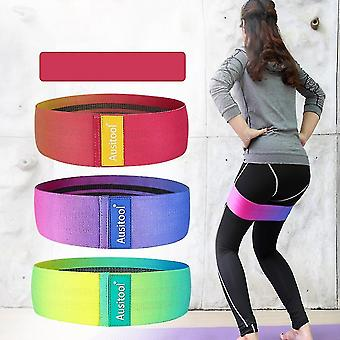 Exercise bands homemiyn resistance yoga bands for legs and butt-booty hip bands sports fitness bands anti slip