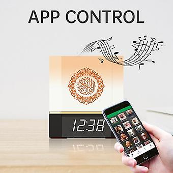 Bluetooth Speaker Wireless Remote Led Night Light Smart App Control Digital Azan Clock With Quran Recitation Translation
