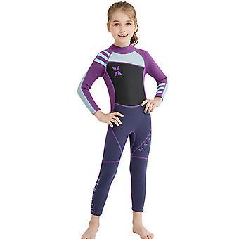 Roupa de mergulho para crianças meninos meninas 2.5mm Neoprene Maiô térmico