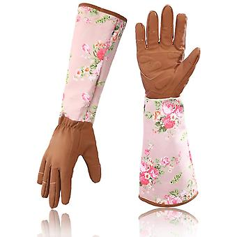 Gartenhandschuhe Langarm Handgelenkschutz Gartenarbeit Beschneiden Rosengärtner Schutzhandschuhe Unisex Ein Paar