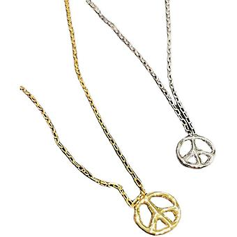 Anti-war Logo Necklace Sweater Chain Hip Hop Personality 925 Sterling Silver Japanese And Korean Pendant Trend