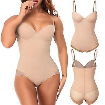 Femme Shapewear Bodysuits Waist Trainer Vest Slim Full Body Shaper Built-in Bra Camisole