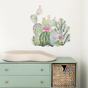 Groene Cactus Plant Muurstickers Stickers Home Decoratieve Behang Kunst