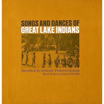 Canciones y danzas de los indios de los grandes lagos - canciones y danzas de los indios de los grandes lagos [CD] USA importar