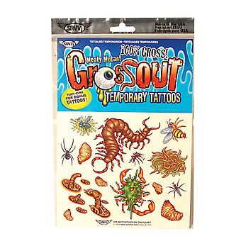 Pack of 12 Gross-Out Temporary Tattoos