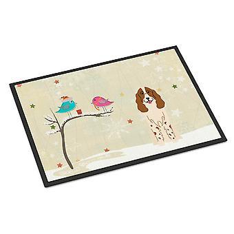 عيد الميلاد بين أصدقاء الكلب الروسي الأماكن المغلقة أو في الهواء الطلق حصيرة 18 × 27
