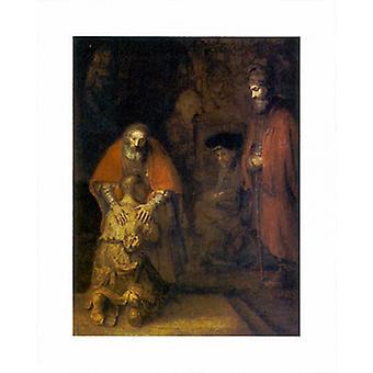 Retur av den fortapte sønn Poster trykk av Rembrandt van Rijn (16 x 20)