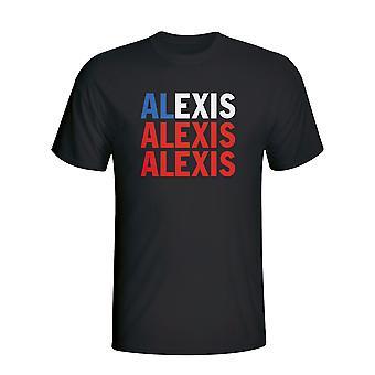 एलेक्सिस सांचेज चिली खिलाड़ी ध्वज टी शर्ट (काला) - बच्चों