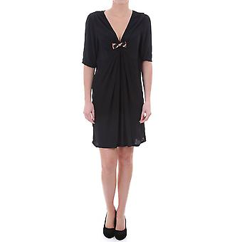 Maison Scotch V Neck Dress With Bow In Crepe