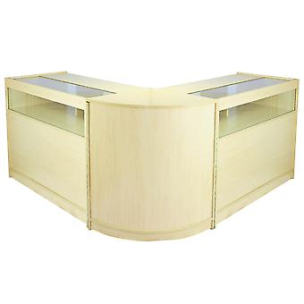 Shop Counters Retail Storage Maple Shelves Display Cabinet Showcase Glass Fusion