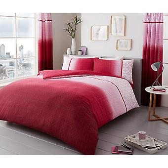 Urban Ombre Floral Duvet Quilt Cover Polycotton Printed Bedding Set All Sizes
