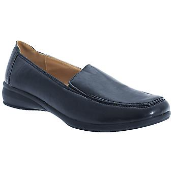 Boulevard Womens/Ladies Leather Like Twin Gusset Shoes