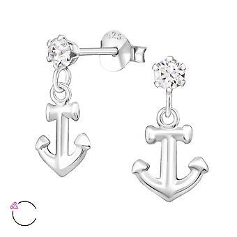 Anchor Crystal From Swarovski® - 925 Sterling Silver Ear Studs - W32825x
