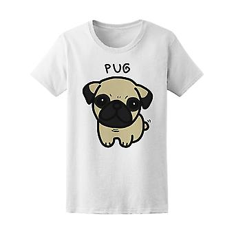 Pug hund Doodle Tee kvinners-bilde av Shutterstock