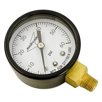 "American Granby IPG602-8L 2"" Dial 0-60# Steel Case Lower Pressure Guage"