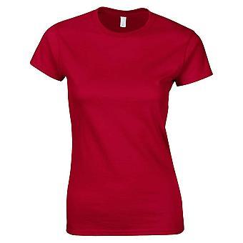 Gildan lyhyt holkki Softstyle naisten Ringspun puuvilla t-paita