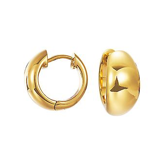 ESPRIT women's hoops earrings gold stainless steel organic ESCO11903B000