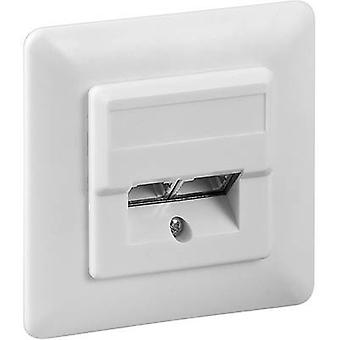 Goobay 50972 Network outlet Flush mount Insert with main panel and frame CAT 5e 2 ports White