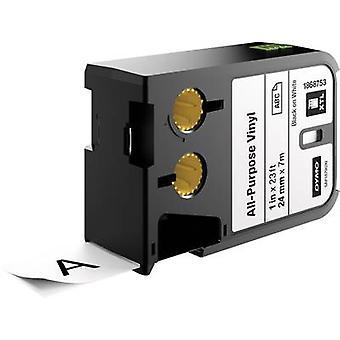 Etikettering tape (multifunctionele vinyl) DYMO 1868753 XTL Tape kleur: wit lettertype kleur: zwart 24 mm 7 m
