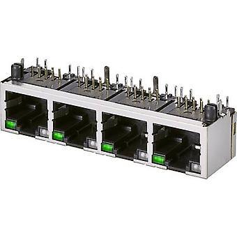 Modulaire deelvenster jack, 4-Port, CAT 5 Socket, horizontale mount aantal pins: 8P8C A20-432-262-903 zwart EDAC A20-432-262-903 1 PC('s)