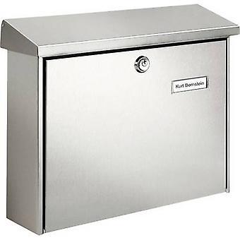 Burg Wächter 8140 AMRUM 3867 NI Letterbox Stainless steel Silver Key