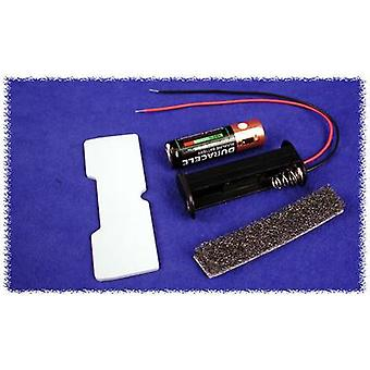 Hammond Electronics BH2AAW Batteriehalter 2 x AA Kunststoff schwarz 1 PC