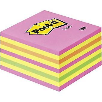 Post-it klistremerke pad 2028NP 76 mm x 45 mm Neon rosa, neon grønn, Rose, gul 450 ark
