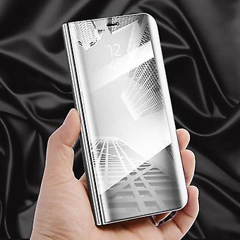 For Eple iPhone XR 6.1 tommers klar utsikt speil speil smart dekke sølv beskyttende coveret veske bag tilfelle nye tilfelle våkne opp funksjonen