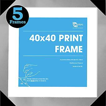 GB Posters 5 Silver Art Print Poster Frames 40x40cm Bundle