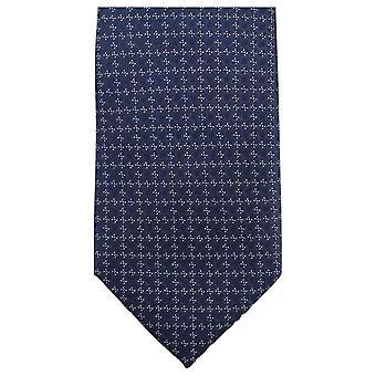 Gravatas de Knightsbridge pequeno Floral gravata - Marinha