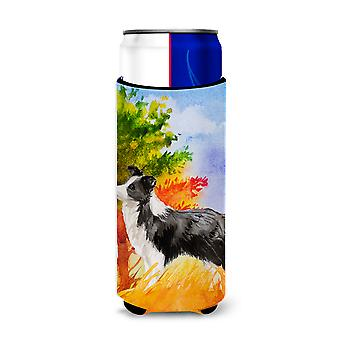 Fall Border Collie Michelob Ultra Hugger for slim cans