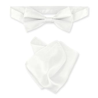 بياجيو BowTie 100 ٪ الحرير صلبة رجالي القوس التعادل & منديل
