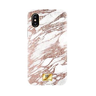 RF door Richmond & Finch shell voor IPhone X/XS-Rose goud marmer