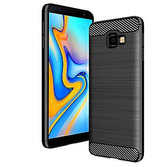 Samsung Galaxy J4 PLUS soft shell TPU Carbon Look Black