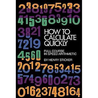 Como calcular rapidamente
