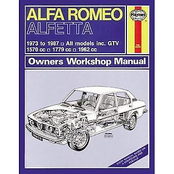 Manuel d'atelier de Alfa Romea Alfetta tous modèles propriétaires: 1973-87 (Haynes Service et manuels de réparation)