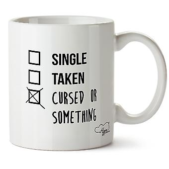 Hippowarehouse Single, Taken, Cursed Or Something Ticked Box Printed Mug Cup Ceramic 10oz
