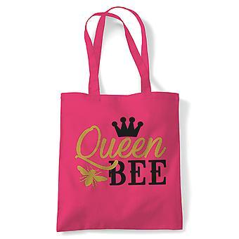 Queen Bee, Tote - Reusable Shopping Canvas Bag Gift Her