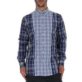 Alexander Mcqueen 515983qlz550903 Men's Light Blue Cotton Shirt